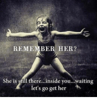 Memes, Waiting..., and 🤖: REMEMBER HER?  She is still there..inside vou...waiting  let's go get her #blessedmommy