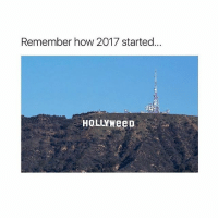 how has your 2017 been? 😂: Remember how 2017 started..  HOLLYWeeD how has your 2017 been? 😂