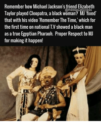 """@Regrann from @theblaquelioness - Once again, Michael pushed the boundaries of the music video medium with """"Remember the Time,"""" crafting a star-studded, nine-minute epic set in ancient Egypt. A pharaoh (Eddie Murphy) and his queen (Iman) seek new entertainment for the court. After a palace guard (Magic Johnson) presents jugglers and fire-eaters to no interest from the royals, a black-robed wizard shocks the court by disintegrating before reforming as a gold-clad Michael Jackson, whose romantic song and dance directed at the queen angers the pharaoh. Michael is chased throughout the kingdom by the pharaoh's guards, pausing to briefly romance the queen and lead a hip-hop dance breakdown before spinning and turning to sand, evading the guards once and for all. MichaelJackson theblaquelioness - regrann Mediaoutrage melanin: Remember how Michael Jackson's friend Elizabeth  @theblaguelioness  Taylor played Cleopatra, a black Woman? MJ fixed'  that with his video """"Remember The Time, which for  the first time on  national T.V showed a black man  as a true Egyptian Pharaoh. Proper Respect to MJ  for making it happen! @Regrann from @theblaquelioness - Once again, Michael pushed the boundaries of the music video medium with """"Remember the Time,"""" crafting a star-studded, nine-minute epic set in ancient Egypt. A pharaoh (Eddie Murphy) and his queen (Iman) seek new entertainment for the court. After a palace guard (Magic Johnson) presents jugglers and fire-eaters to no interest from the royals, a black-robed wizard shocks the court by disintegrating before reforming as a gold-clad Michael Jackson, whose romantic song and dance directed at the queen angers the pharaoh. Michael is chased throughout the kingdom by the pharaoh's guards, pausing to briefly romance the queen and lead a hip-hop dance breakdown before spinning and turning to sand, evading the guards once and for all. MichaelJackson theblaquelioness - regrann Mediaoutrage melanin"""