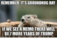 From Adrienne.  (A friend of mine)  😂  ~ Scarlet 🔥🔥🔥🔥: REMEMBER, IT'S GROUNDHOG DAY  IFWE SEE A MEMO THEREWILL  BE7 MORE YEARS OF TRUMP From Adrienne.  (A friend of mine)  😂  ~ Scarlet 🔥🔥🔥🔥
