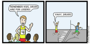 Winners and Losers (oc): REMEMBER KIDS, DRUGS  ARE FOR LOSERS!  YAAY, DRUGS!  DOGS on the 4th  FINI Winners and Losers (oc)