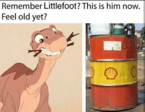 Remember him?: Remember Littlefoot? This is him now.  Feel old yet? Remember him?