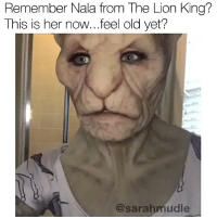 Bruh, Dank, and The Lion King: Remember Nala from The Lion King?  This is her now...feel old yet?  @sarahmudle Bruh I'm moister than an oyster 💦 all credit to @sarahmudle 💦