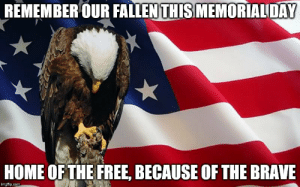 last memorial day - Imgflip: REMEMBER OUR FALLEN THIS MEMORIALDAY  HOME OF THE FREE, BECAUSE OF THE BRAVE  imgfip.com last memorial day - Imgflip
