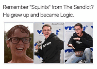 """Logic, Dank Memes, and The Sandlot: Remember """"Squints"""" from The Sandlot?  He grew up and became Logic  @sideofricepllaf  ER (@sideofricepilaf)"""