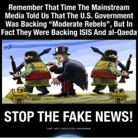 "truthjihad: Remember That Time The Mainstream  Media Told Us That The U.S. Government  Was Backing ""Moderate Rebels'', But In  Fact They Were Backing ISIS And al-Qaeda  rist  Rebel  Syria  Afghanistan  STOP THE FAKE NEWS!  THE LAST AMERICAN VAGABOND truthjihad"