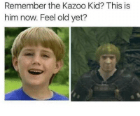 Work, Old, and Been: Remember the Kazoo Kid? This is  him now. Feel old yet?