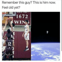 America, Baseball, and Basketball: Remember this guy? This is him now.  Feel old yet?  1672  WINS DoubleTap if you remember this 😂 FOLLOW @ATHLETICFILM FOR MORE! - Tags: nfl mlb nba nhl baseball basketball football hockey soccer tennis golf sports like follow dunk lol haha funny lebron ncaa highlights jcole drake trump america curry news fitness gym