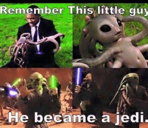 Dank, Jedi, and Memes: Remember This little guy  He became a jedi These crossovers are getting out of control by Spyderman217 MORE MEMES