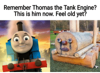 Thomas The Dank Engine: Remember Thomas the Tank Engine?  This is him now. Feel old yet?