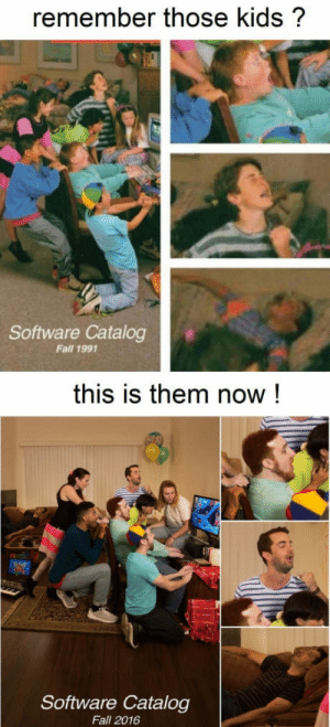 Fall, Tumblr, and Blog: remember those kids?  Software Catalog  Fall 1991  this is them now!  Software Catalog  Fall 2016 nerdeas:SHOOK