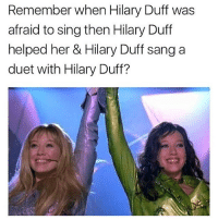 tag @jacksfilms on the calculator pic lmao: Remember when Hilary Duff was  afraid to sing then Hilary Duff  helped her & Hilary Duff sang a  duet with Hilary Duff? tag @jacksfilms on the calculator pic lmao