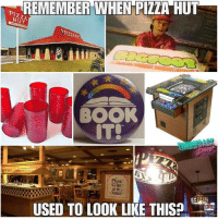 Memes, Pizza, and Pizza Hut: REMEMBER WHEN PIZZA HUT  PIZ2A HU  BOOK  IT!  USED TO LOOK LIKE THIS yap