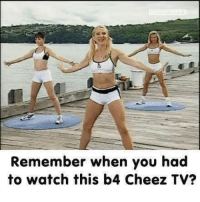 Cheezing: Remember when you had  to watch this b4 Cheez TV?