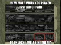 Good Guy Goldeneye https://t.co/VVB7Kgq4Sg: REMEMBER WHEN YOU PLAYED  INSTEAD OF PAID  DAM  FACILITY RUNWAY BURFACEBUNKER  SILD  FRIGATE SURFACE BUNKER STATUE  ARCHIVES STREETS DEPOT  TRAIN  JUNGLE  CONTROL AVERNS- GRADLE AZTEC  EGYPTİA  tn  TO UNLOCKLEVELS LIKE THESE? Good Guy Goldeneye https://t.co/VVB7Kgq4Sg