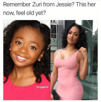 Lmao, Memes, and Old: Remember Zuri from Jessie? This her  now, feel old yet?  @niggalins Zuri getting the pipe from young ma now lmao
