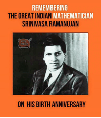 Memes, Indian, and 🤖: REMEMBERING  THE GREAT INDIAN  MATHEMATICIAN  SRINIVASA RAMANUJAN  inBIA  ON HIS BIRTH ANNIVERSARY
