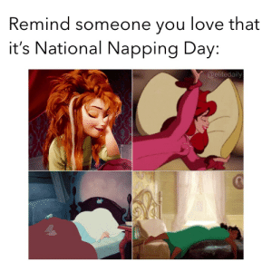 Love, Memes, and Brain: Remind someone you love that  it's National Napping Day:  @elitedaily Yes!!!!!! Daylight savings spring forward has my brain not working well