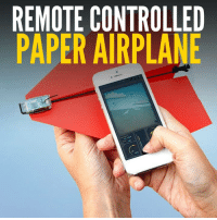 Turn any paper airplane into a remote controlled drone!  Buy it here: http://amzn.to/2gI61z6: REMOTE CONTROLLED  PAPER AIRPLANE Turn any paper airplane into a remote controlled drone!  Buy it here: http://amzn.to/2gI61z6