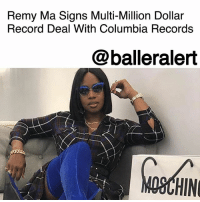 """Remy Ma Signs Multi-Million Dollar Record Deal With Columbia Records - blogged by @MsJennyb ⠀⠀⠀⠀⠀⠀⠀ ⠀⠀⠀⠀⠀⠀⠀ Amid the return of Remy Ma on """"Love and Hip Hop New York,"""" the rapper is making some big music moves. ⠀⠀⠀⠀⠀⠀⠀ ⠀⠀⠀⠀⠀⠀⠀ For her first solo music release since her prison bid, Remy has signed a multi-million dollar record deal with Columbia Records. After a competitive bidding war between labels, Sony managed to secure the deal to release Remy's first solo album since lock up. ⠀⠀⠀⠀⠀⠀⠀ ⠀⠀⠀⠀⠀⠀⠀ The new release will also be Remy's first music since her Grammy award-nominated collab with Fat Joe. ⠀⠀⠀⠀⠀⠀⠀ ⠀⠀⠀⠀⠀⠀⠀ Congratulations to Remy Ma!: Remy Ma Signs Multi-Million Dollar  Record Deal With Columbia Records  @balleralert  OSCHIN Remy Ma Signs Multi-Million Dollar Record Deal With Columbia Records - blogged by @MsJennyb ⠀⠀⠀⠀⠀⠀⠀ ⠀⠀⠀⠀⠀⠀⠀ Amid the return of Remy Ma on """"Love and Hip Hop New York,"""" the rapper is making some big music moves. ⠀⠀⠀⠀⠀⠀⠀ ⠀⠀⠀⠀⠀⠀⠀ For her first solo music release since her prison bid, Remy has signed a multi-million dollar record deal with Columbia Records. After a competitive bidding war between labels, Sony managed to secure the deal to release Remy's first solo album since lock up. ⠀⠀⠀⠀⠀⠀⠀ ⠀⠀⠀⠀⠀⠀⠀ The new release will also be Remy's first music since her Grammy award-nominated collab with Fat Joe. ⠀⠀⠀⠀⠀⠀⠀ ⠀⠀⠀⠀⠀⠀⠀ Congratulations to Remy Ma!"""