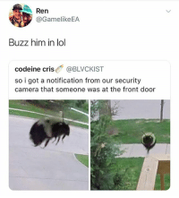This just reminds me of Black Mirror • Follow @savagememesss for more posts daily: Ren  GamelikeEA  Buzz him in lol  codeine cris @BLVCKIST  so i got a notification from our security  camera that someone was at the front door This just reminds me of Black Mirror • Follow @savagememesss for more posts daily