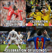 True 😂 🙌 🔺FREE FOOTBALL EMOJIS -> LINK IN OUR BIO!! Credit ➡️ @thefootballarena: RENA  Evonik  CELEBRATION  CELEBRATION  OF KIDS  OF MEN  RONALDO  MESSI  CELEBRATION OF LEGENDS True 😂 🙌 🔺FREE FOOTBALL EMOJIS -> LINK IN OUR BIO!! Credit ➡️ @thefootballarena
