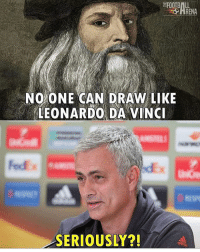 Leonardo Da Vinci, Memes, and United: RENA  NO ONE CAN DRAW LIKE  LEONARDO DA VINCI  SERIOUSLY?! Another 1-1 draw at Old Trafford😂 United - Ajax in the final🔥