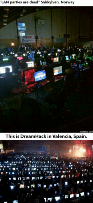 DreamHack, Spain, and Who: RENNE  This is DreamHack in Valencia, Spain. To the guy who posted this, 4 days 24h non stop.
