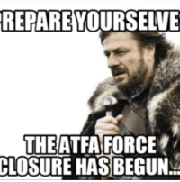 it has begun: REPARE  THE ATFA FORCE  CLOSURE HAS BEGUN