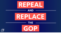 Memes, American, and Power: REPEAL  REPLACE  GOP  AND  THE We're sharing our favorite moments from 2017:  1️⃣ Witnessing the power of the grassroots grow and rise up to save our health care over and over again. You turned Republicans' plan to repeal and replace the ACA into the American movement to repeal and replace the GOP in 2018.