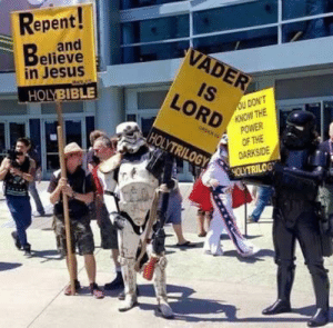Showing humanity a better path.: Repent!  and  Believe  in Jesus  VADER  IS  oU DON'T  KNOW THE  POWER  OF THE  DARKSIDE  LORD  HOLYBIBLE  oR  HOLYTRILOGY  4OLYTRILOGT Showing humanity a better path.
