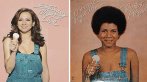firstoffletmesayi:  anangryblack:  Maya Rudolf paying tribute to her late mother, Minnie Riperton, on Saturday Night Live during a break.  This is my favorite SNL pic of all time. : Reperiers  Live  AD firstoffletmesayi:  anangryblack:  Maya Rudolf paying tribute to her late mother, Minnie Riperton, on Saturday Night Live during a break.  This is my favorite SNL pic of all time.