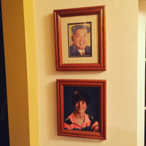 Replaced my little sisters graduation photo with one of the supreme leader 3 weeks ago. Dad still hasn't noticed.: Replaced my little sisters graduation photo with one of the supreme leader 3 weeks ago. Dad still hasn't noticed.