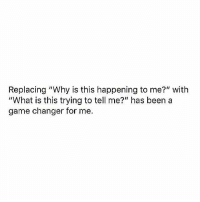 """Facts, Game, and Game Changer: Replacing """"Why is this happening to me?"""" with  """"What is this trying to tell me?"""" has been a  game changer for me. Facts 🙏💯 https://t.co/fw7nriPAio"""
