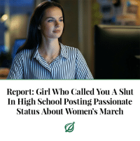 "Bitch, Chicago, and Facebook: Report: Girl Who Called You A Slut  In High School Posting Passionate  Status About Women's March <p><a href=""http://theonion.tumblr.com/post/170015462157/chicagorecalling-how-the-former-classmate-would"" class=""tumblr_blog"">theonion</a>:</p>  <blockquote><p>CHICAGO—Recalling how the former classmate would ruthlessly prey on insecurities, sources confirmed Monday that the girl who repeatedly called you a slut in high school was posting a passionate Facebook status about the Women's March. ""I had the most amazing time out there with my sisters, and it really proved that when women stand together, we can change the world,"" wrote the woman who made your life a living hell for four years and once called you a skank in front of the entire cafeteria. ""It's now important more than ever for women to be great role models for every young girl. The progress we make today will change the lives of women for generations to come."" At press time, your former tormenter, who had scrawled the phrase ""blowjob bitch"" on your locker after noticing you sat next to her ex-boyfriend during a school assembly, posted an impassioned reminder for all women to stay strong in the face of adversity.<br/></p></blockquote>"
