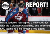 Stay up to date on Zadorov's new contract terms with @nhl.discussion ! We expect a 2-3 year contract to be announced today, in the $2-3 Million range. Zadorov Colorado Avs Avalanche nhldiscussion: REPORT  OISCUSSION  Nikita Zadorov has signed a new contract  with the Colorado Avalanche, and informed  KHL teams he's no longer a free-agent Stay up to date on Zadorov's new contract terms with @nhl.discussion ! We expect a 2-3 year contract to be announced today, in the $2-3 Million range. Zadorov Colorado Avs Avalanche nhldiscussion