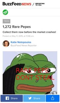 News, Buzzfeed, and Pepe  REPORTING TO YOU TECH 1,272 Rare Pepes Collect  them 9bd9678b190c