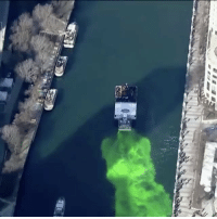 "Memes, 🤖, and Secret: Repost:@CBSNews-""Watch as a ""secret concoction"" turns the Chicago River a bright emerald green to kick off the Windy City's StPatricksDay celebrations"" 🍀🍺 WSHH"