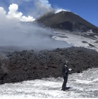 """Memes, 🤖, and Lava: Repost:@CNN-""""Video of flowing lava from Sicily's Mount Etna was captured by @aerdna_k. She took the video about a half-hour before the volcano erupted, reportedly killing several people."""" 😳🙏 WSHH"""