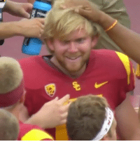 "Espn, Memes, and Wshh: Repost: @ESPN-""USC called timeout to bring Jake Olson, a long snapper who is blind, on to the field to help convert a PAT."" 🏈👍💯 WSHH"