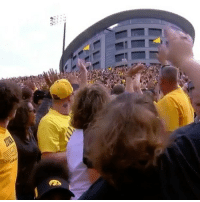 """Memes, SportsCenter, and Wshh: Repost @sportscenter: """" Iowa is now taking a break during every game to wave to the children's hospital next door."""" 👋🙏 WSHH"""