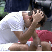 """Memes, SportsCenter, and Wshh: Repost:@SportsCenter-"""" RogerFederer is overcome with emotion after winning a record 8th Wimbledon title."""" 🎾🏆 WSHH"""