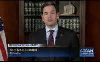 """From the Weekly Republican Address:  """"All these challenges underscore the need to rebuild our military, to reassure our traditional allies, and reassert American leadership on the world stage. Unless we take these actions, we will be unable to leave the world more secure for future generations of Americans."""": REPUBLICAN WEEKLYADDRESS  SEN. MARCO RUBIO  R-Florida  CSPAN  C-span Org From the Weekly Republican Address:  """"All these challenges underscore the need to rebuild our military, to reassure our traditional allies, and reassert American leadership on the world stage. Unless we take these actions, we will be unable to leave the world more secure for future generations of Americans."""""""