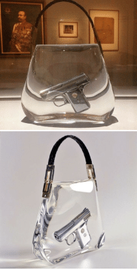 "Target, Ted, and Tumblr: republicanbukkake: astrobleme22:  Ted Noten  SuperBitch Bag, 2000  (Gun Casted in Acrylic, Snake-Skin Handle)  I know it's the year it was made and not part of the title but i want it to be ""SuperBitch Bag 2000"""