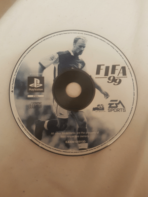 Fifa, PlayStation, and Sports: Reserved For home use  home use oaly  Arts. All Rights  nc01  FIFA  584  PlayStation  PAL  SPORTS  All other trademarks are the  res  of  e owners  EAX06101513D Blast from the past