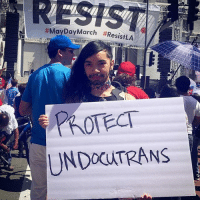 Memes, 🤖, and Day: RESIS  #MayDayMarch #ResistLA  PROTECT Protec UndocuTrans all day every day TransIsBeautiful 💖💕✊🏾 Repost @freehoe_lera nohumanbeingisillegal undocutrans