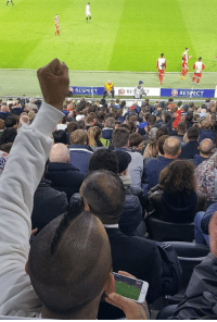 Respect, Soccer, and Goal: RESPE  RESPECT Arturo Vidal celebrating Juventus' third goal whilst watching Bayern Munich at the Allianz Arena https://t.co/Hk7Shq2hX0