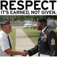 Salute the Troops.: RESPECT  IT'S EARNED, NOT GIVEN. Salute the Troops.