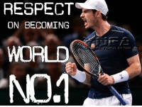 Memes, Respect, and Congratulations: RESPECT  ON BECOMING  WORLD  N01 HUGE LIKES FOR A HUGE A ACHIEVEMENT. ABSOLUTELY BRILLIANT AND CONGRATULATIONS ANDY MURRAY