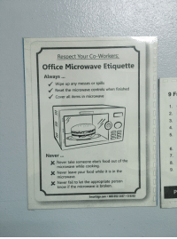 Respect Your Co Workers Office Microwave Etiquette Always